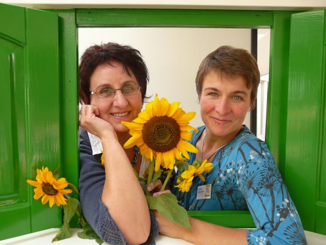 Christel Werb und Gerlind Heckmann (von links), Quartiersarbeiterinnen in Weingarten-West